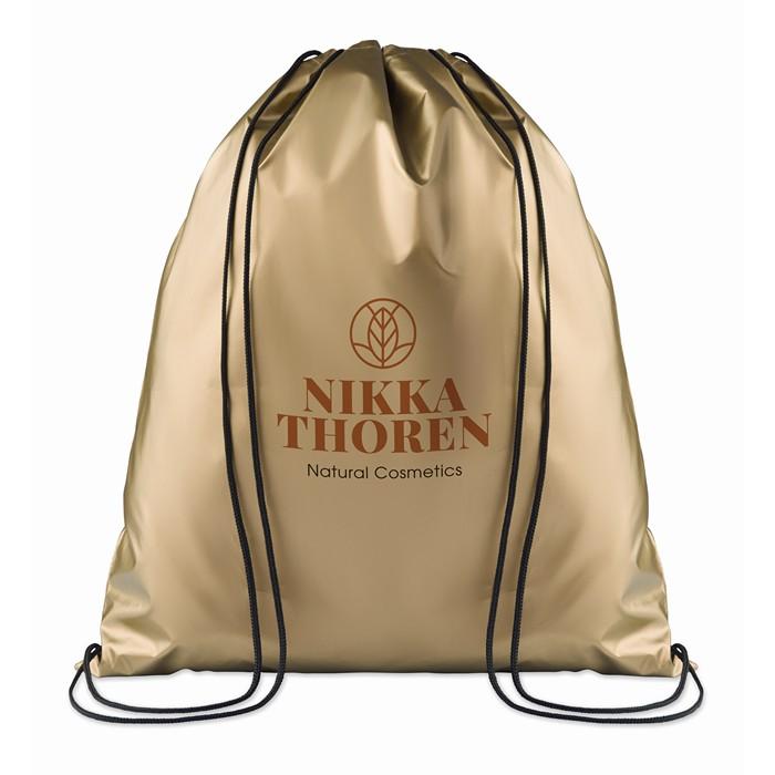 ImPrinted Drawstring bag shiny coating