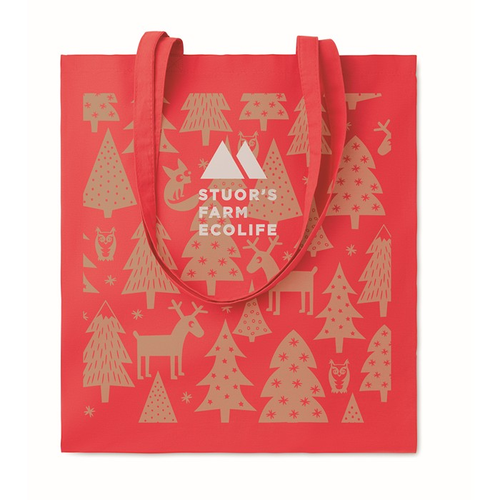 Personalised Cotton shopping bag 140gsm