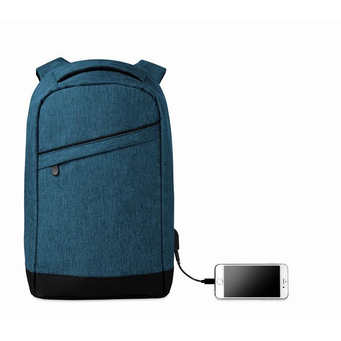 Embellished 2 tone backpack incl USB plug