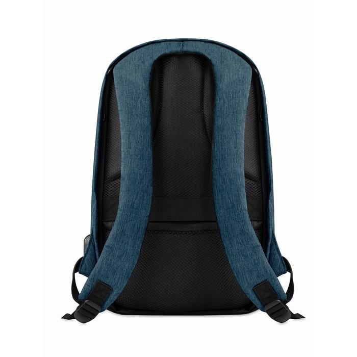 Custom Corporate backpacks 2 tone backpack incl USB plug