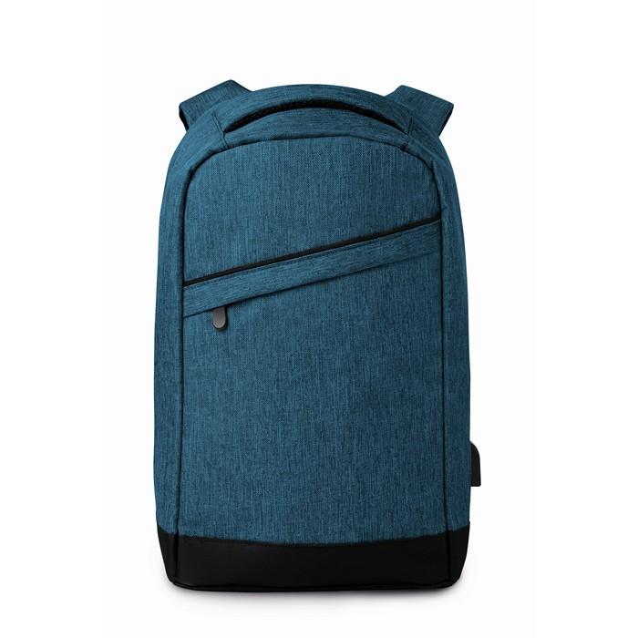 Branded Corporate backpacks 2 tone backpack incl USB plug