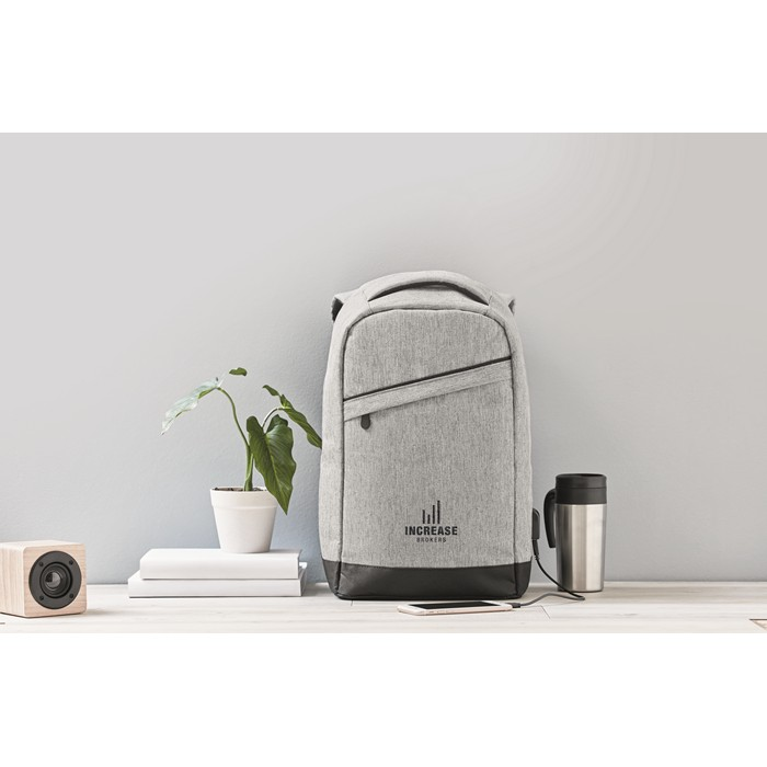 Custom Personalised backpacks 2 tone backpack incl USB plug