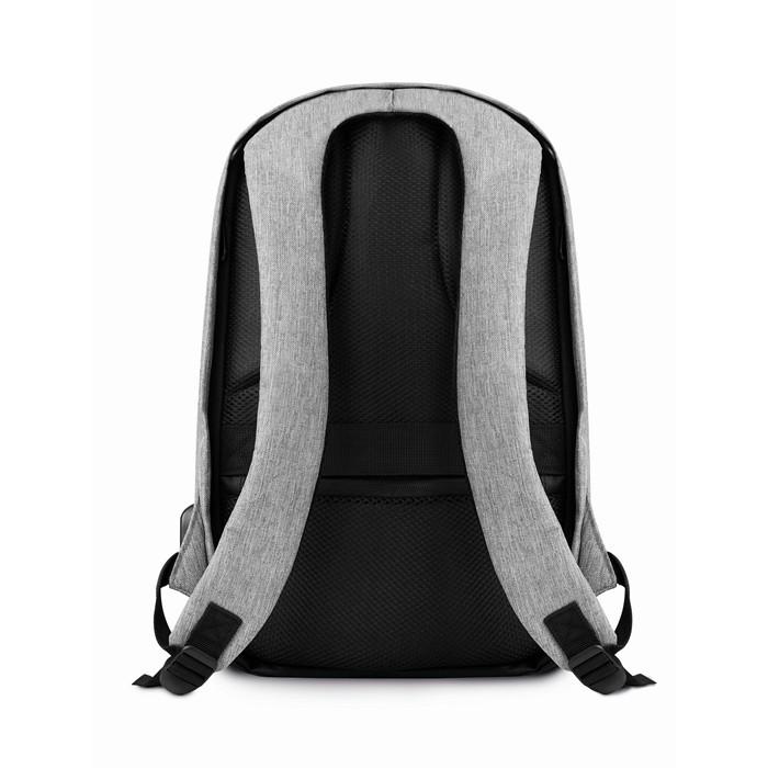 Branded Promotional backpacks 2 tone backpack incl USB plug