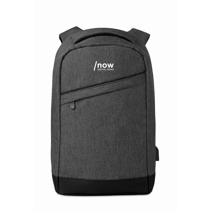 Personalised 2 tone backpack incl USB plug