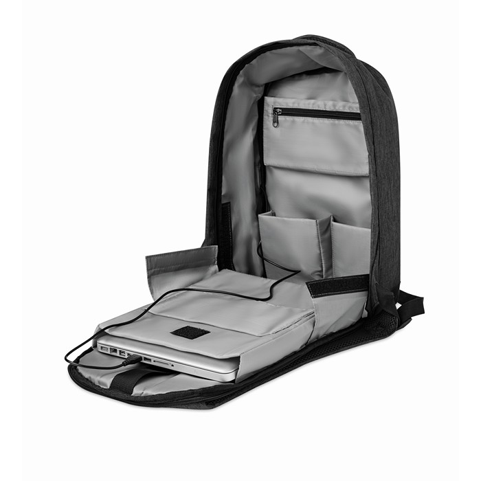 Promo 2 tone backpack incl USB plug