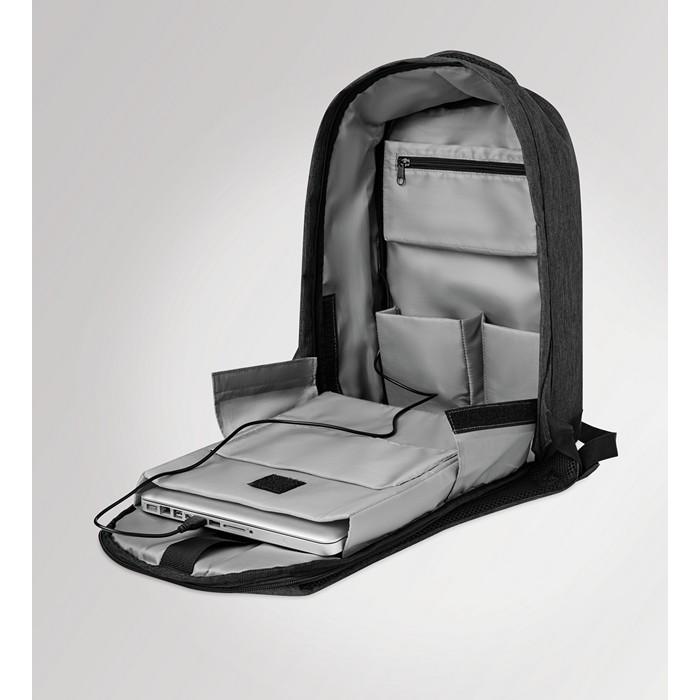Engraved 2 tone backpack incl USB plug